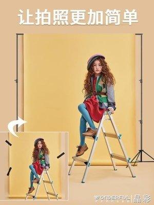 ZIHOPE 攝影架 2M*2米攝影背景架直播拍照背景布架子攝影棚人像服裝拍攝道具ZI812