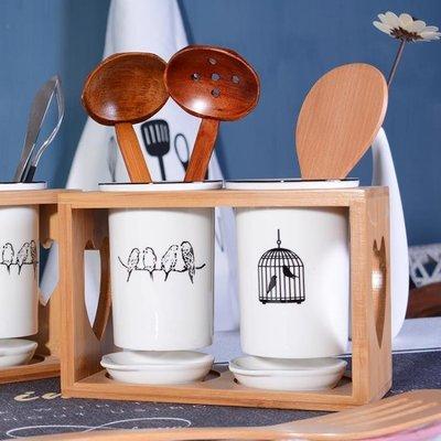 現貨/北歐陶瓷筷子筒筷籠筷子桶家用廚房收納盒瀝水創意筷子簍簡約筷兜/海淘吧F56LO 促銷價