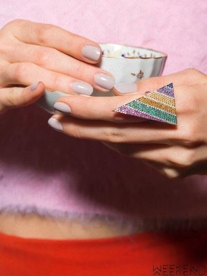 【WEEKEND】 TALITA Love Punk 彩色 銀鍍18kt 玫瑰金 戒指