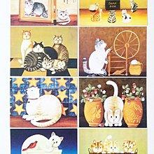 Osmileooo-復古油畫貓咪 明信片 8張