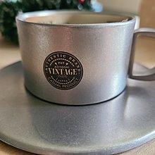 日本製 Aoyoshi 青芳製作所 復古珍珠霧面咖啡杯盤 90ml 仿舊咖啡杯 不銹鋼咖啡杯 有盒 全新 現貨