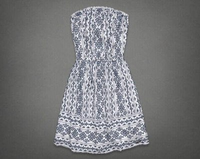 Maple麋鹿小舖 Abercrombie&Fitch * AF 露肩洋裝HEATHER DRESS * ( 現貨M號 )