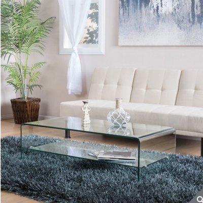 Noble House Jeremy 玻璃咖啡桌 109x56x36公分(鋼化玻璃)