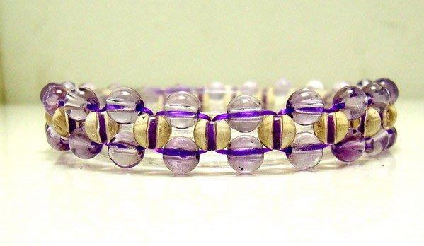 小風鈴~天然頂級清透編織紫黃晶手鍊~淨重9.7g    店長嚴選商品
