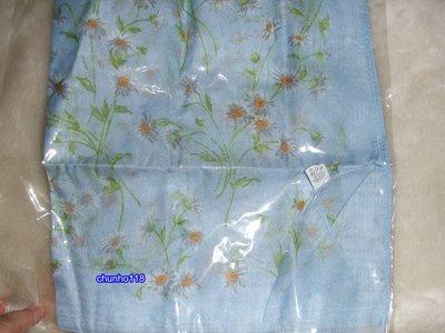 全新 SINGLE NOBLE 獨身貴族水藍色花朵絲巾