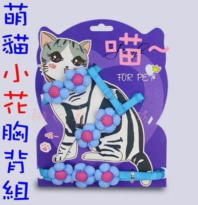 翔仁寵物工坊~【萌貓小花胸背組/貓用胸背(含牽繩)1.0cm】多色可選