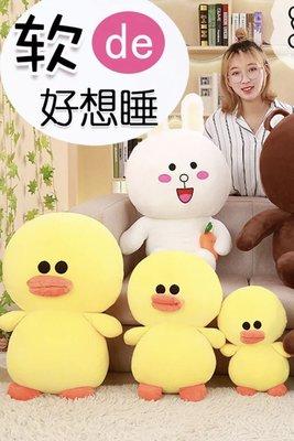 韓國毛絨玩具布朗熊可妮兔抱胡蘿蔔莎莉雞小黃鴨睡覺抱女孩娃娃莎莉(六十公分賣場)