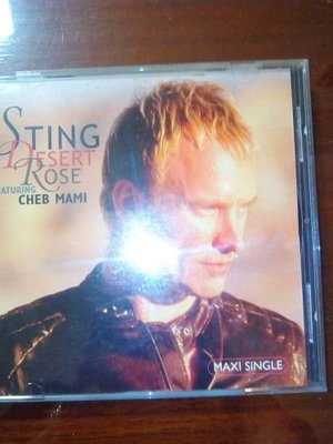 (文子的CD賣場 )  STING    DESERT ROSE單曲  REMIX 絕版1元起標
