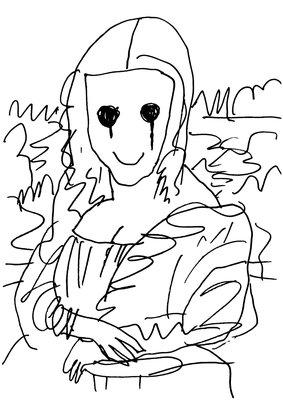 MADSAKI Coffee Break Drawing of Mona Lisa_P 親簽版畫