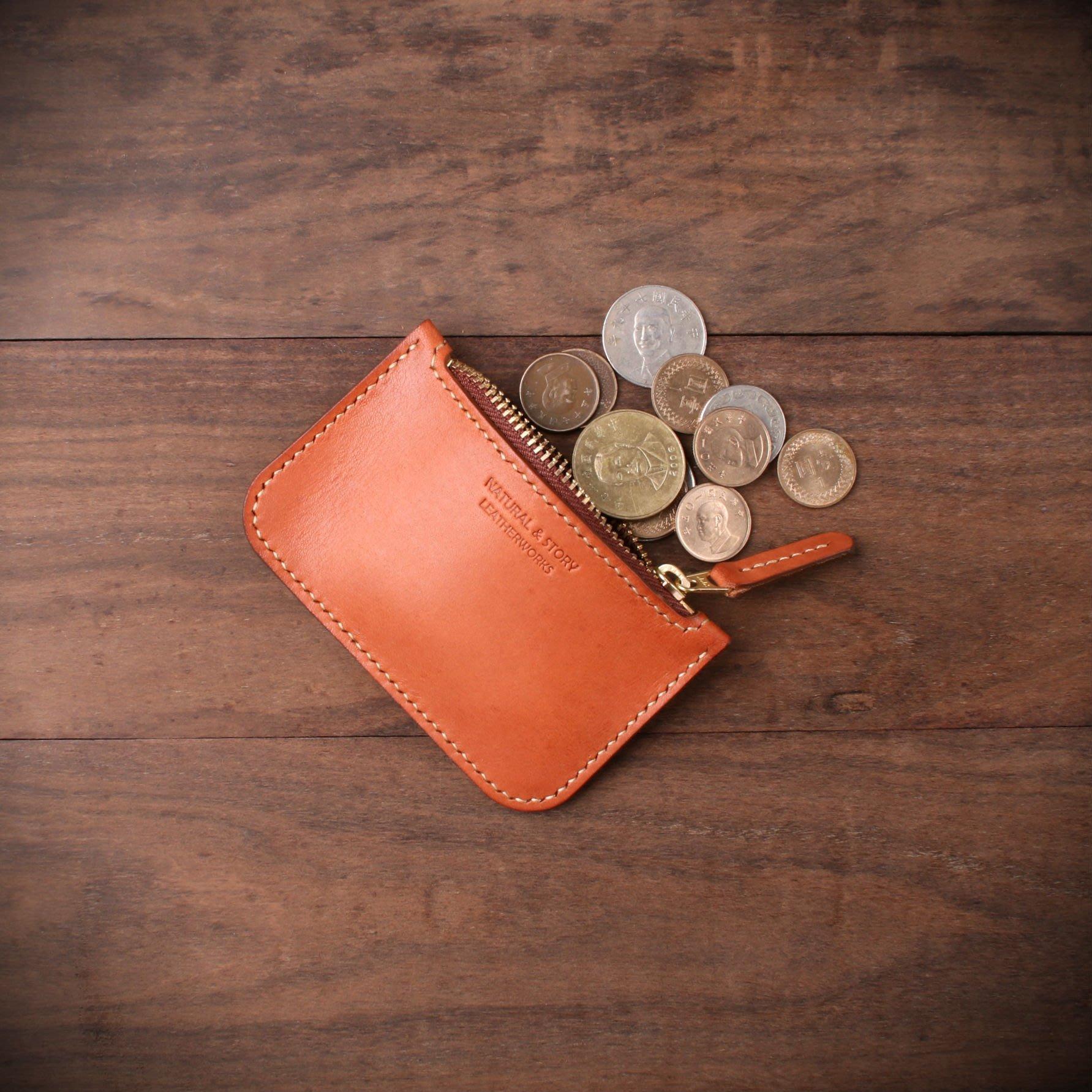 [NS手工皮件] 拉鍊零錢包、禮物 (免費打印)