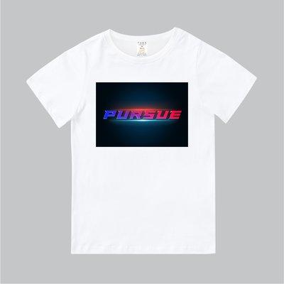 T365 MIT 親子裝 T恤 童裝 情侶裝 T-shirt 標語 話題 口號 美式風格 slogan PURSUE