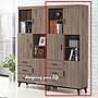 【設計私生活】西雅圖2.7尺灰橡三門三抽書櫃...