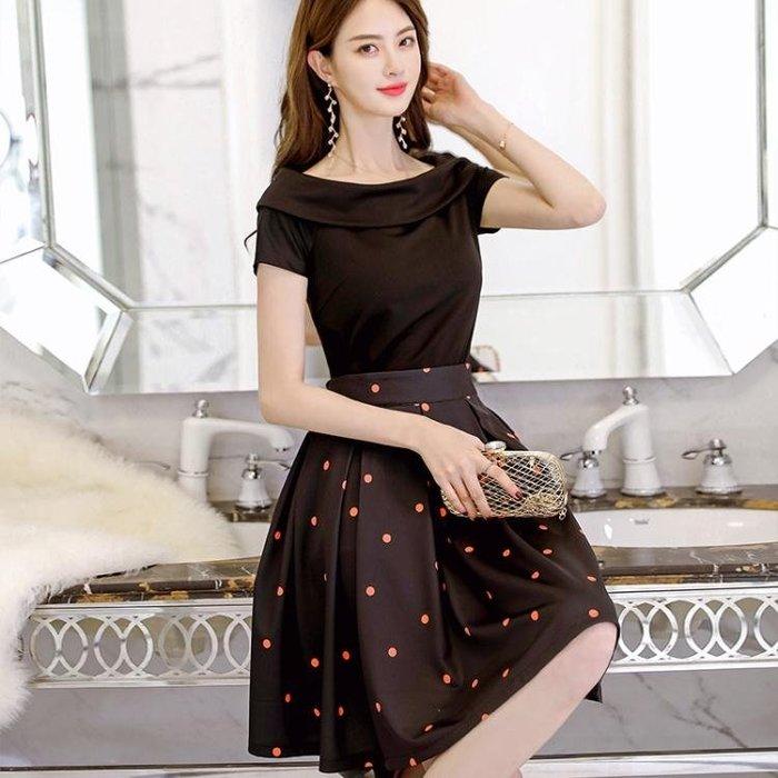 款韓版大碼連衣裙時尚休閒短袖女裝兩件套涼感洋裝