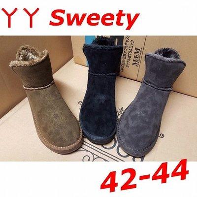 ☆(( 丫 丫 Sweety )) ☆。大尺碼女鞋。秋冬新品韓版中桶雪靴(F129)42-44下標時以即時庫存為主