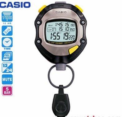 【CASIO】賽跑 溜冰 游泳皮划艇,健身,慢跑等 運動用防潑水專業計時碼錶 型號:HS-70TW【神梭鐘錶】 台北市