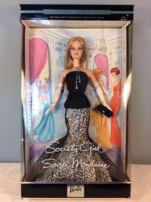Barbie Society Girl 2002 社交女孩 晚禮服 限量珍藏版 芭比娃娃