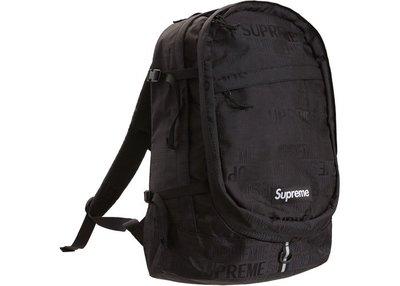 「Rush Kingdom」Supreme Backpack (SS19) Black 黑色 後背包