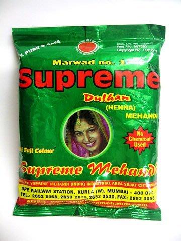 印度 純天然henna指甲花粉 染髮粉 200g