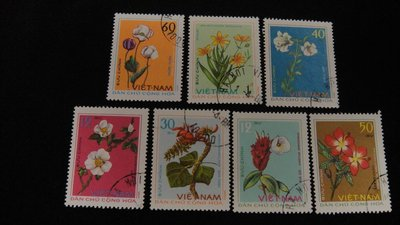 【大三元】亞洲郵票-越南郵票-各國植物專題郵票-銷戳票7枚