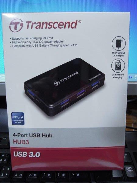 點子電腦-北投◎創見 Transcend HUB3 4port USB HUB USB集線器◎USB 3.0,650元