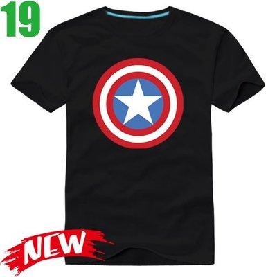 【美國隊長 Captain America】短袖漫威超級英雄T恤(共6種顏色) 任選4件以上每件400元免運費【賣場二】