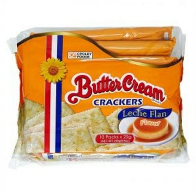 菲律賓CroleyFoods ButterCream LecheFlan crackers布丁餅乾/1包/25x10g