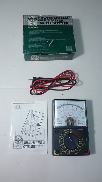 PRO SKIT指針斜立型三用電錶9PK-960TRE-B 永和