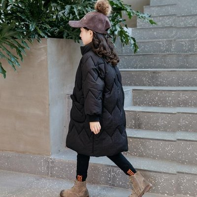 女童棉衣裝韓版小女孩洋氣棉襖外套兒童棉服中長款童裝