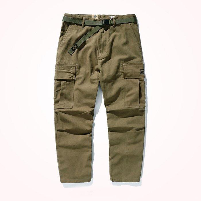 ☆R&M☆日系復古大口袋設計重磅質量超好休閒褲工作褲(二色)~預購+現貨