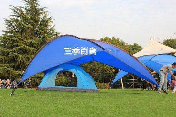 三季戶外必備!戶外遮陽天幕帳篷 超大 沙灘多人休閑涼棚 雨篷 遮陽棚 防紫外線 廣告棚 戶外用品❖800