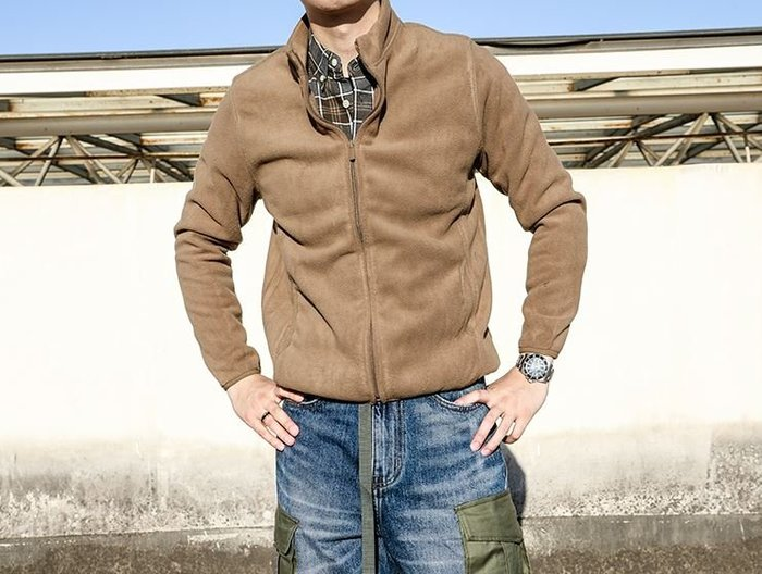 【NoComment】街頭休閒質感 純素面毛絨百搭長袖外套 7色 UNIQLO Nike