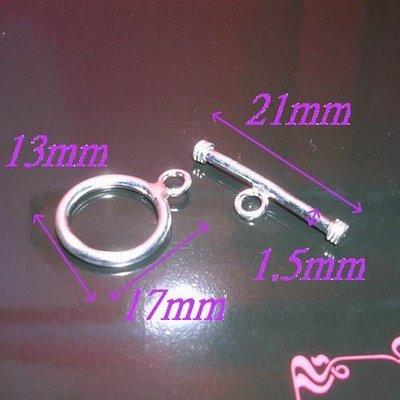 琥珀貓~【925純銀材料配件】OT扣~N6523~13mm圈+21mmT-BAR~一組