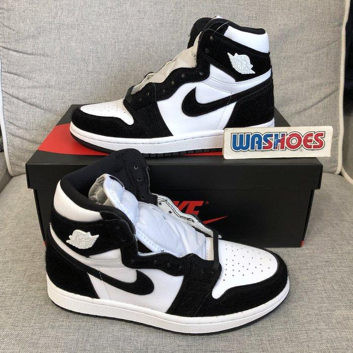 Washoes Wmns Air Jordan 1 High OG 白黑 CD0461-007 熊貓 馬毛 女鞋 小尺寸