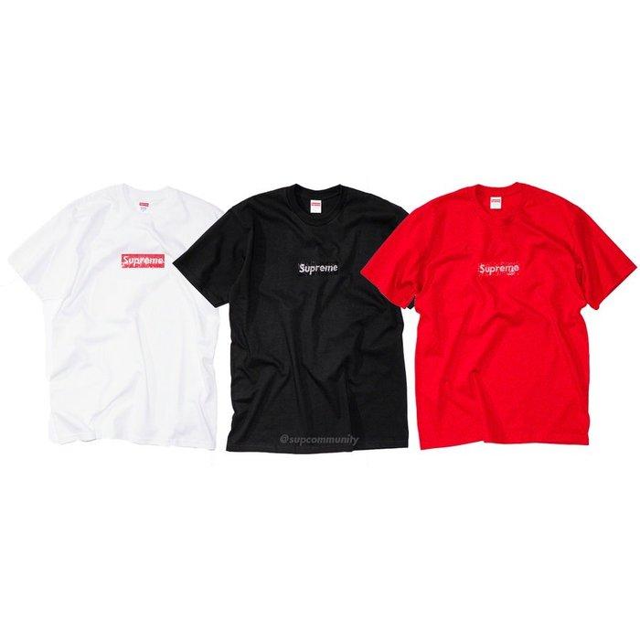 【美國鞋校】預購 Supreme SS19 Swarovski Box Logo T-Shirt 施華洛世奇