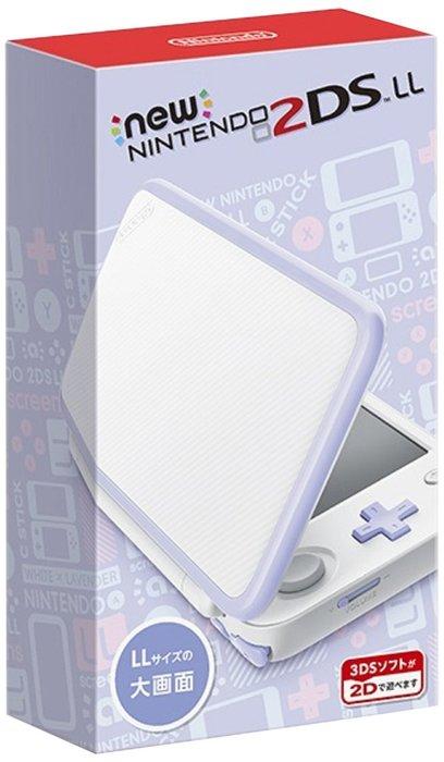 現貨中任天堂 New Nintendo 2DSLL 輕薄型日規機種 日文介面非3DSLL 白X薰衣草紫【板橋魔力】