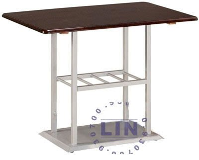 【品特優家具倉儲】R428-43餐桌西餐桌712烤銀胡桃餐桌3*2尺