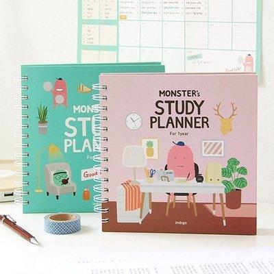 ❅PAVEE❅ 韓國indigo~ Monster Study Planner 一年份 讀書計畫/行事曆/萬用手冊