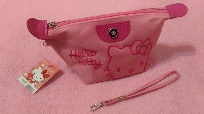 ❀甜心棧❀Hello Kitty(KT)粉色化妝包 #出清雜物#
