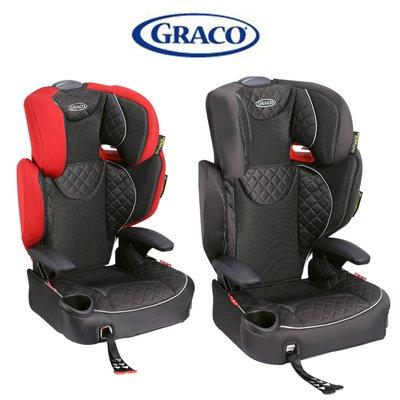 GRACO 3-12歲幼兒成長型輔助汽車安全座椅AFFIX兒童成長型汽座兒童汽車座椅ISOFIX寶寶安全座椅紅色黑色