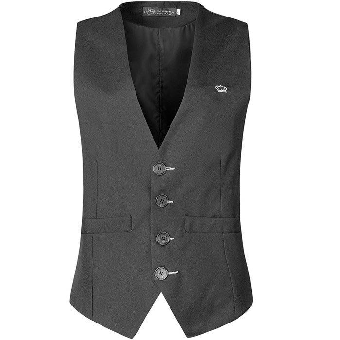 『潮范』 S3 新品外貿新款男士西裝開襟背心 正裝背心 素面背心 棉質背心NRG346