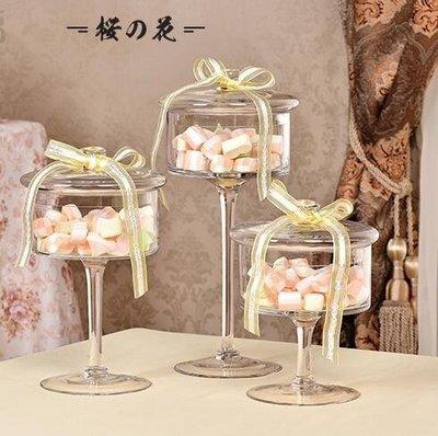 歐式透明玻璃罩蛋糕盤糕點糖果盤防塵罩高...
