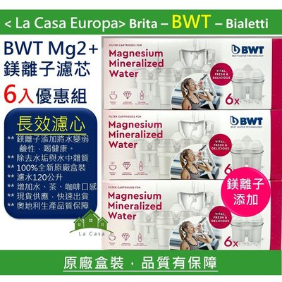 [My BWT] 6入裝Mg2+ 鎂離子添加長效濾心 濾芯,長效濾心。可濾水120公升。原廠盒裝。2020.06月製造。