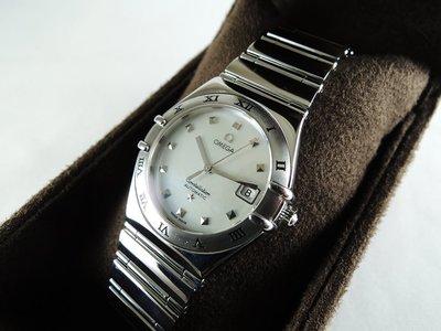 【汎德名錶】歐米茄 OMEGA 女錶 Constellation星座系列 彩蝶貝殼面 日期 ETA 2000 自動機芯