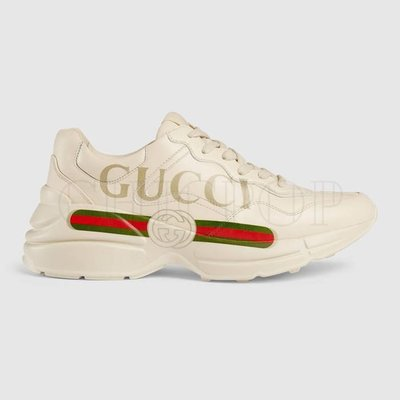 【ChicPop】GUCCI Rhyton  logo 皮革 休閒鞋 女款 男款
