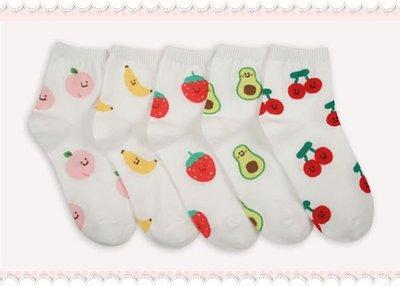 。~ 寶貝可愛 ~。韓國精選飾品配件,夏日水果短襪,大童&成人適穿。2020現貨優惠