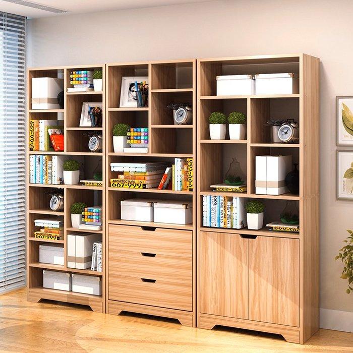 書柜書架簡約現代省空間置物架經濟型書架落地書櫥簡易書架儲物柜【優品城】