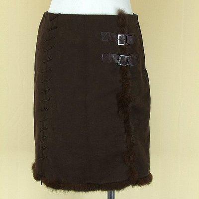 DAHSEN 韓版 咖啡棉質兔毛短裙M號得標是裙子(2745) 新北市