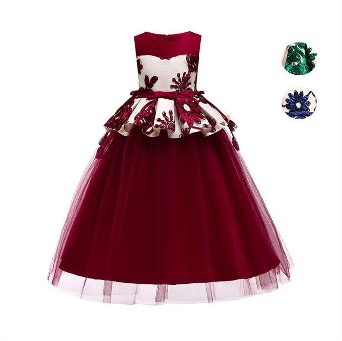 表演服 洋裝 禮服 公主裙 大女公主裙兒童禮服花童禮服長裙主持演出服鋼琴女童婚紗裙蓬蓬裙