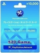 日本PSN/PSV/PS3/PS4 Playstation Network 10000日元 售價$725