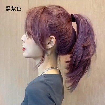 染髮劑黑葡萄紫灰紫色染發劑發膏女流行色顯白自己在家染純泡沫植物
